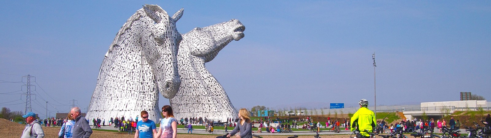 View of the Kelpies, Helix Park, Falkirk