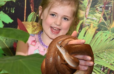Zoolab Jungle Room, Falkirk  Girl with Snake