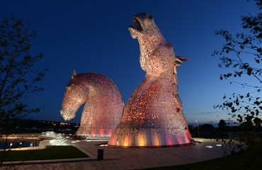 Falkirk by Night|Kelpies at night|The Kelpies Falkirk|Visit Falkirk
