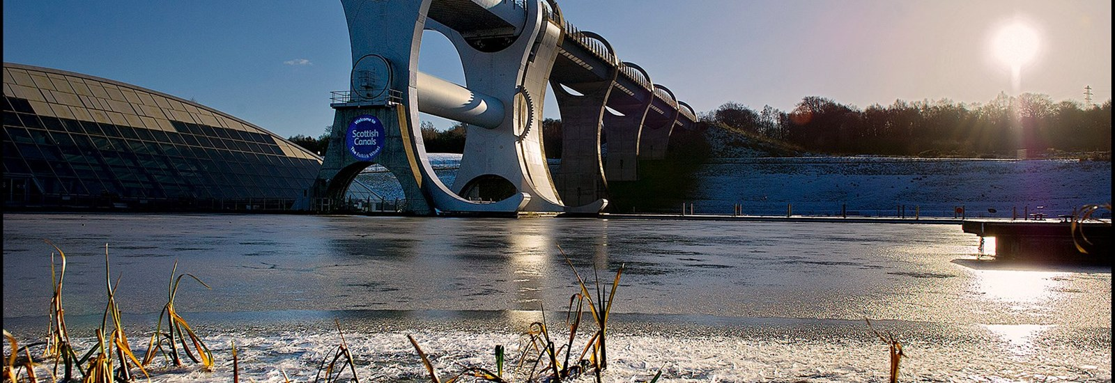 The Falkirk Wheel Snow