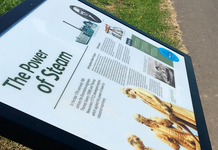 Charlotte Dundas Heritage Trail interpretation panels 2