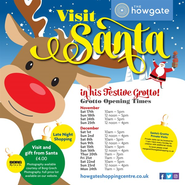 Santa's Festive Grotto at the Howgate Shopping Centre