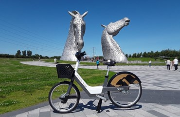 E Bike Hire at the Kelpies