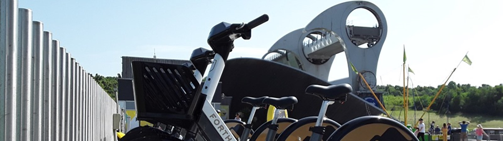 E bike hire Falkirk Wheel