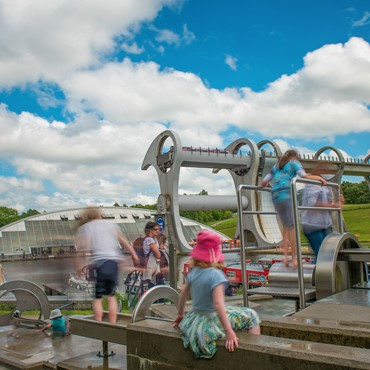 Falkirk wheel family accessible