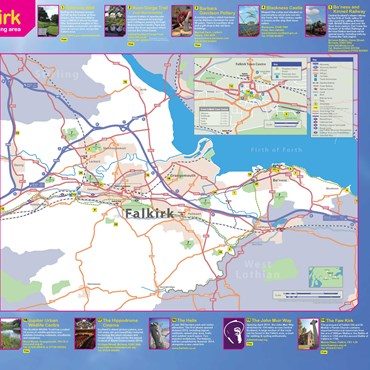 Falkirk Area Tourist Map