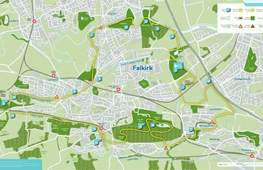 HArTT Map, Cycling in Falkirk