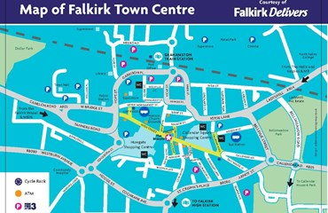Falkirk Delivers Town Centre Map